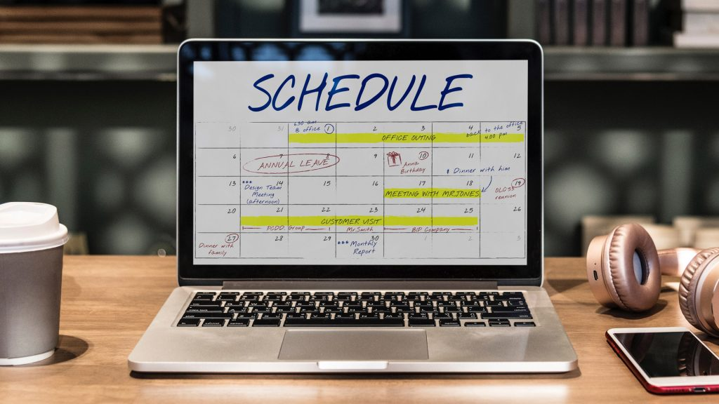 Calendar as part of the Social Media Marketing strategy
