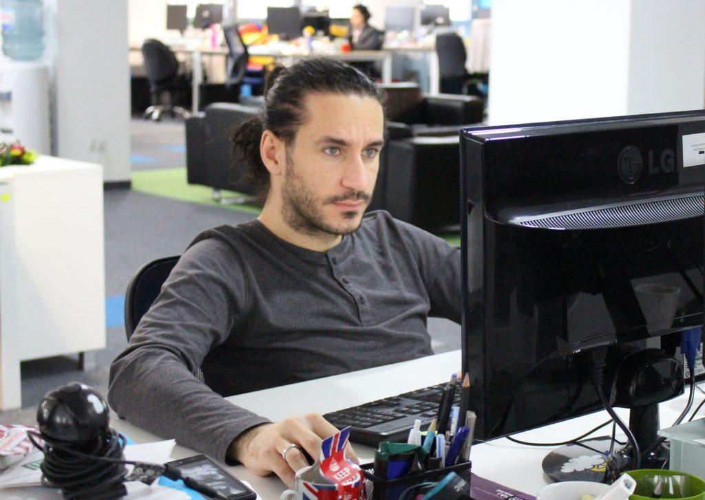 Atanas Arizanov in action