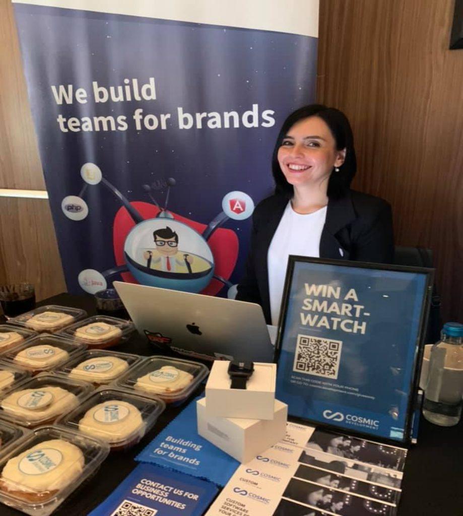 Emilija Nikoloska representing Cosmic at Macedonia2025 Summit 2019