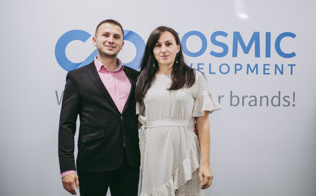 Our Finance and Accounting Manager at the Opening Ceremony of Cosmic's Office in Skopje