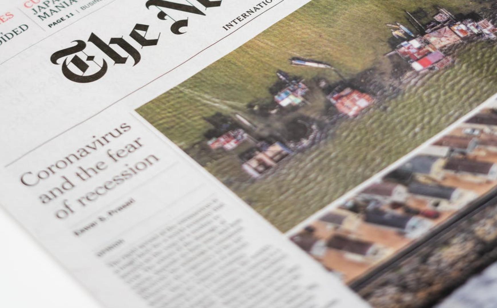 Newspaper of the Recession during Coronavirus