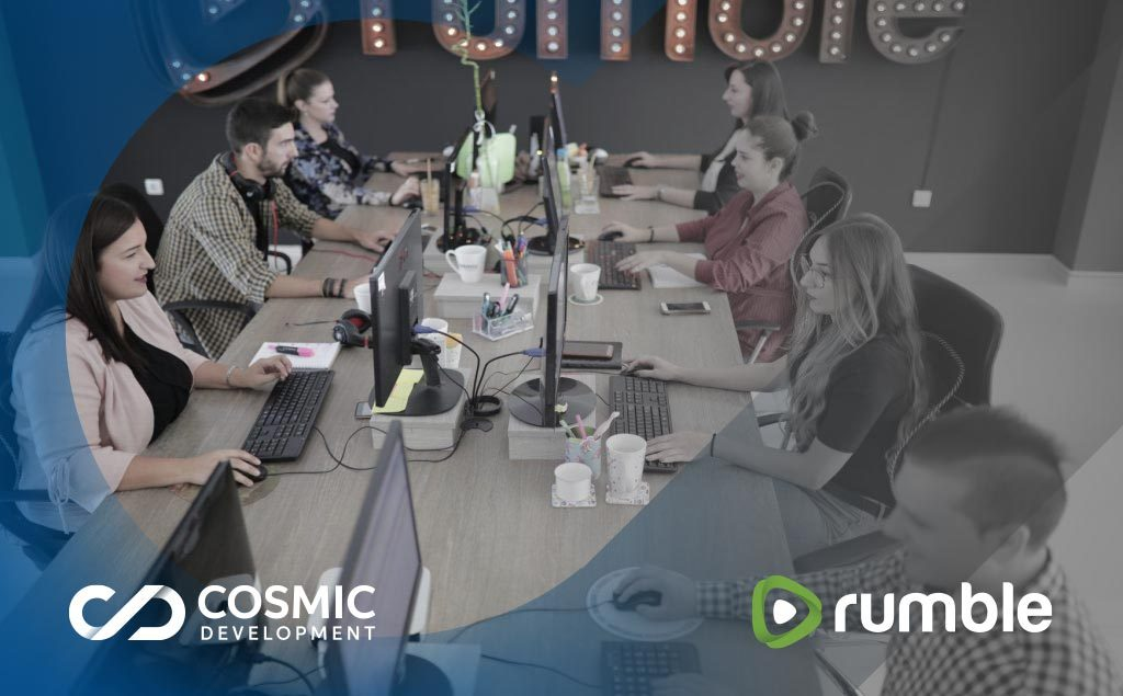 Rumble video content creators at Bitola office