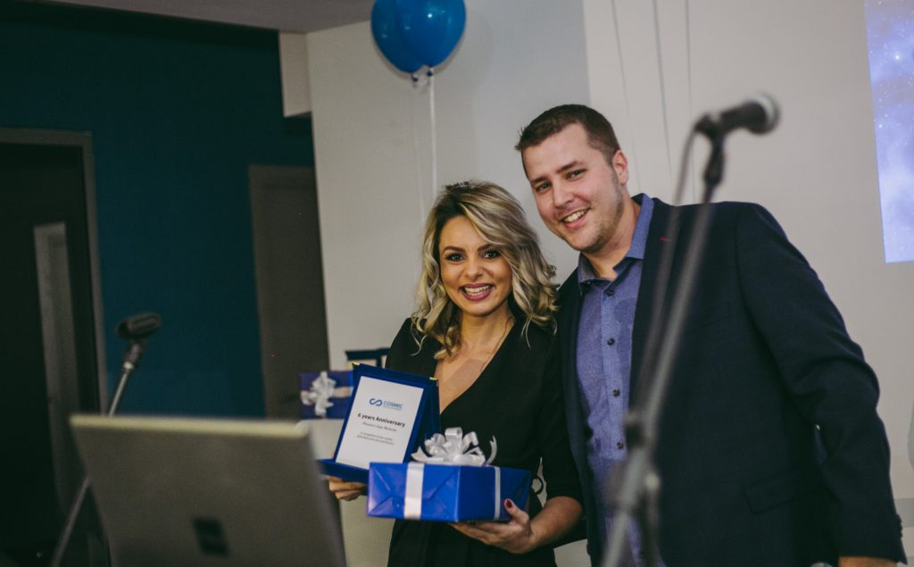 Our Office Manager Sanja Blazhevska and our CEO Ryan Milnes