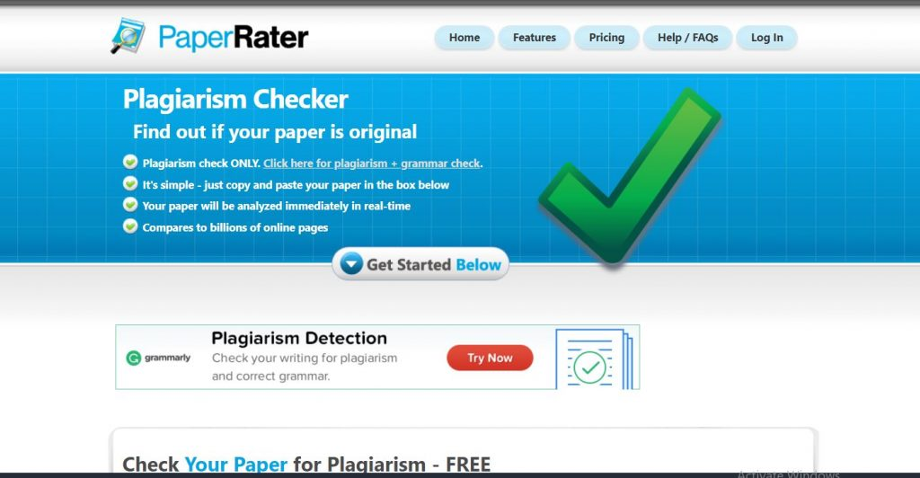 Paper Rater Free Writing Tools