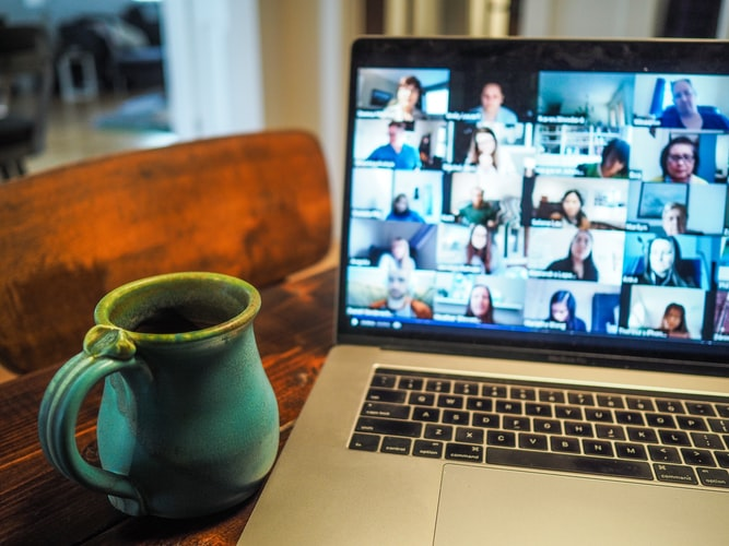 Online conference with the remote agile teams